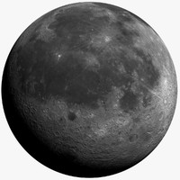moon 72k 3d model