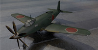 3d yokosuka r2y1 keuin fighter aircraft