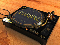 technics turntable 3ds