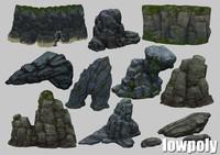 3ds rock set gamemodel