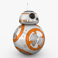 bb-8 droid star 3d max