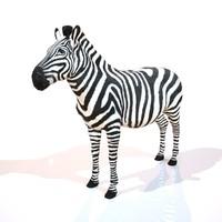 3d obj zebra