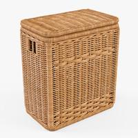 3d wicker laundry basket color