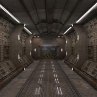 corridor interior 3d max