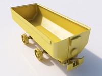 3d max cart coal ore
