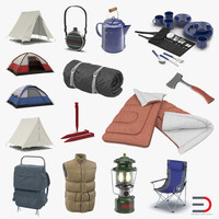 3d model of camping equipment