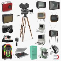 retro electronics 3d model