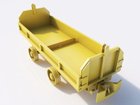 cart materials railway 3d model