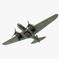3d model db-3 bomber