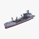 navy tanker 3D models
