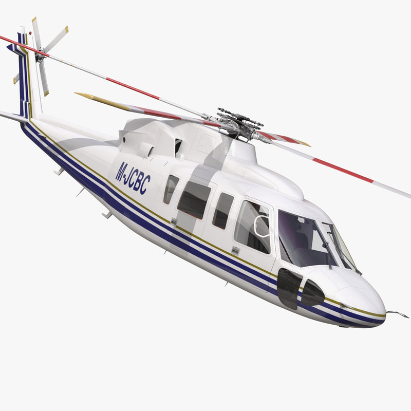 Helicopter Sikorsky s76 Rigged 3dsmax vray 3d model 00.jpg