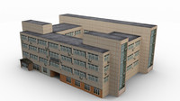 3d engineering laboratory building model
