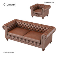 Chesterfield traditional tufted classic sofa armchair chair buttoned leather