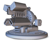 Railgun Turret - Model Only