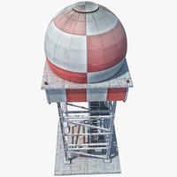 radar tower obj
