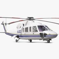 3d model helicopter sikorsky s76