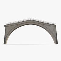 3d model ottoman bridge stari