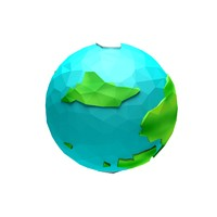 fantasy cartoon planet 3d model