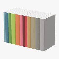 book set generic 3d model