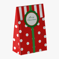 christmas bag 02 red 3d max