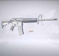 m4a1 rifle 3d obj