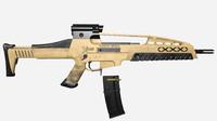 xm8 assault rifle 3d model