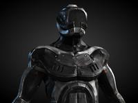 3d robot humanoid model