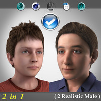 2 in 1 ( 2 Realistic boys )