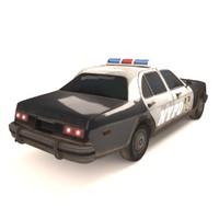 3d c4d police car