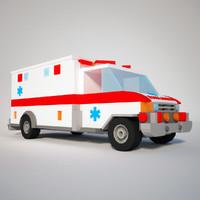 3d ready ambulance model