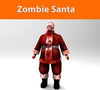 zombie santa 3d max