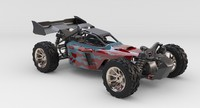 rigged rc car suspension 3d model