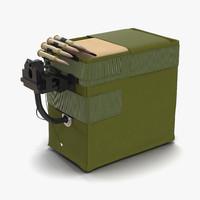 ammo box machine gun 3d model