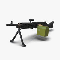 3d m240 machine gun model