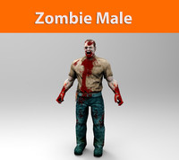 zombie police male low poly