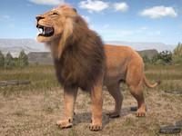 lion king hair fur 3d model