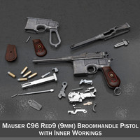 Mauser C96 Broomhandle - M1916 - Red 9