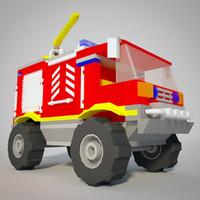 truck cartoon 3d 3ds