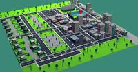 cartoon city 3d fbx
