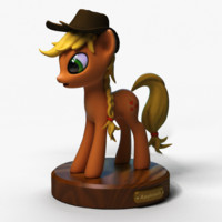 little pony applejack 3d obj