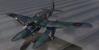 3d model northrop n-3pb raf