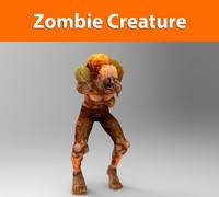 3d zombie creature model