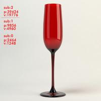3d model champagne glass