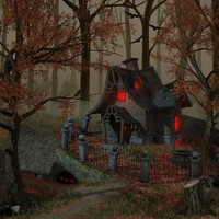 3d witch house model