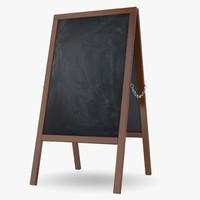 3d chalkboard chalk board