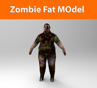 zombie male low poly
