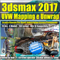 3ds max 2017 UVW Mapping e Unwrap Rinnovo Subscription