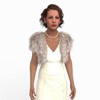 3d woman dress model