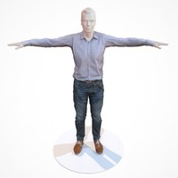 3d business costume outfit male model