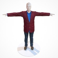 business costume outfit male 3d model